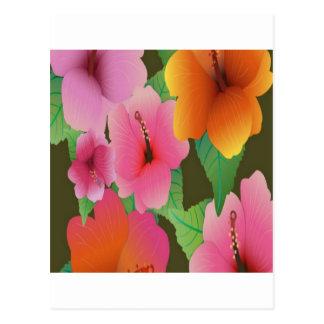 Diseño de las flores del hibisco postal