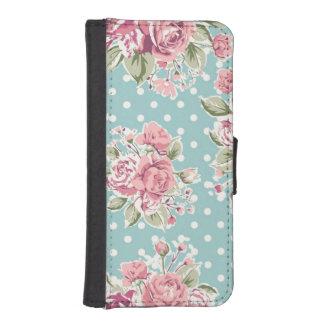 Diseño de las flores del vintage carteras para teléfono