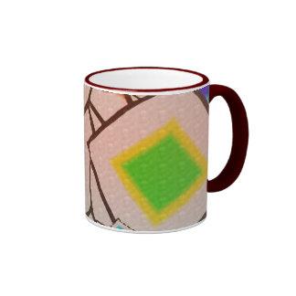 Diseño de las formas taza a dos colores