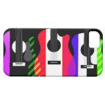 Diseño de las guitarras del arco iris iPhone 5 carcasas
