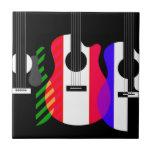 Diseño de las guitarras del arco iris teja