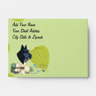 Diseño de las hojas del verde de Terrier del Sobres