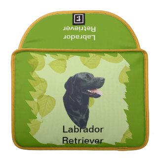Diseño de las hojas del verde del ~ del labrador funda macbook pro