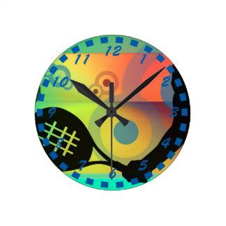 Diseño de las ilustraciones de la silueta del teni reloj redondo mediano