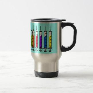 Diseño de las jeringuillas de la taza del viaje de