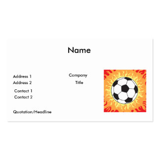 diseño de las llamas del balón de fútbol tarjetas de visita