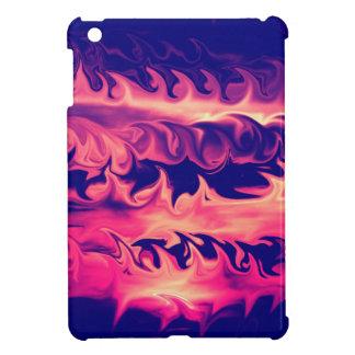 Diseño de las llamas del fuego iPad mini fundas