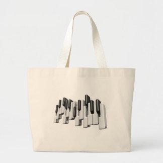 diseño de las llaves de teclado de piano bolsa tela grande