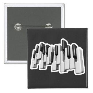 diseño de las llaves de teclado de piano pin cuadrado