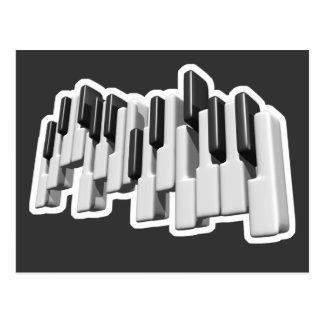 diseño de las llaves de teclado de piano tarjetas postales