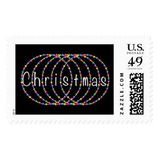 Diseño de las luces de navidad en plata sellos postales