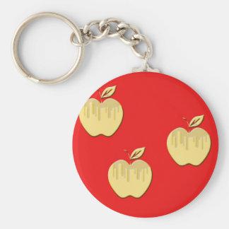Diseño de las manzanas llavero redondo tipo pin