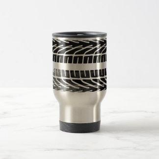 Diseño de las marcas del neumático taza térmica