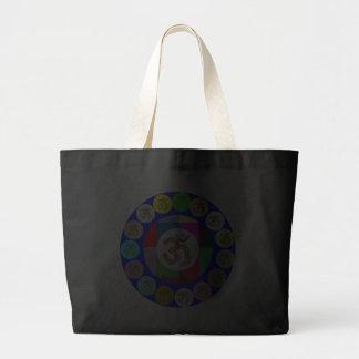 Diseño de las monedas del MANTRA de OmMantra OM Bolsa Tela Grande