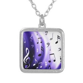 Diseño de las notas musicales colgante cuadrado