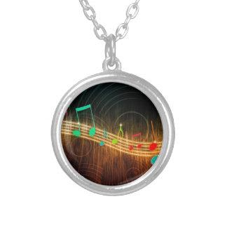 Diseño de las notas musicales colgante redondo