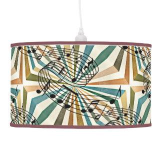 Diseño de las notas musicales en la lámpara