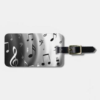 Diseño de las notas musicales etiquetas maleta
