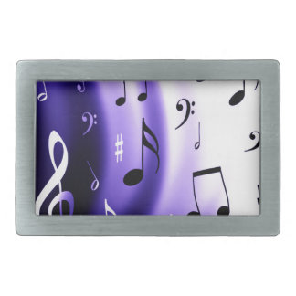 Diseño de las notas musicales hebilla de cinturon rectangular