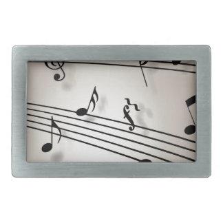 Diseño de las notas musicales hebillas de cinturón rectangulares