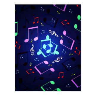 Diseño de las notas musicales tarjetas postales