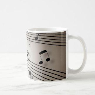 Diseño de las notas musicales taza clásica
