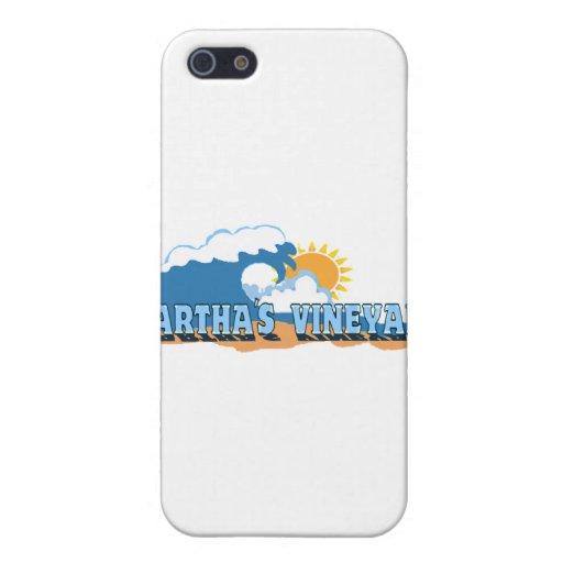 """Diseño de las """"ondas"""" del Martha's Vineyard iPhone 5 Carcasas"""