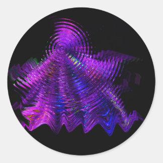 Diseño de las ondulaciones del baile pegatina redonda