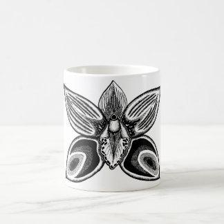 Diseño de las orquídeas taza de café