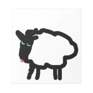 Diseño de las ovejas bloc de notas