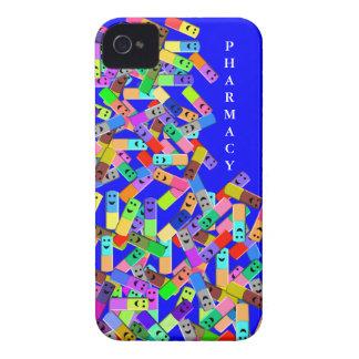"""Diseño de las """"píldoras felices"""" de la farmacia iPhone 4 carcasa"""