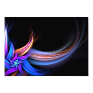 """Diseño de las plumas del fractal invitación 3.5"""" x 5"""""""