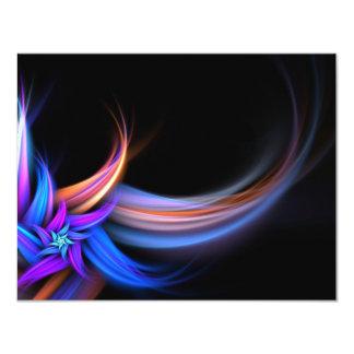 """Diseño de las plumas del fractal invitación 4.25"""" x 5.5"""""""