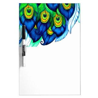 Diseño de las plumas del pavo real pizarras