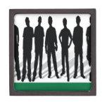 Diseño de las siluetas de la gente caja de regalo de calidad