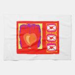 Diseño de las tarjetas del día de San Valentín de  Toalla De Cocina