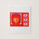 Diseño de las tarjetas del día de San Valentín de  Puzzles