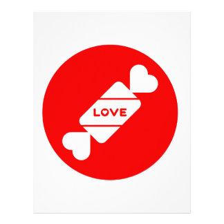 Diseño de las tarjetas del día de San Valentín del Membrete A Diseño