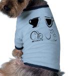 Diseño de las tazas de café ropa para mascota