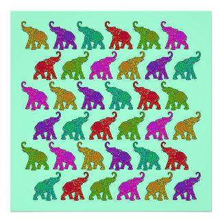 Diseño de las tejas del modelo del paseo del elefa fotografías