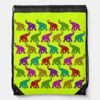Diseño de las tejas del modelo del paseo del elefa mochila