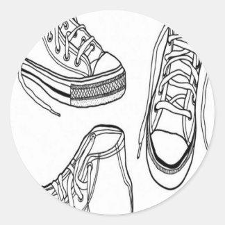 Diseño de las zapatillas de deporte pegatina redonda