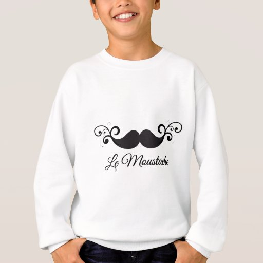 Diseño de Le Moustache con el bigote rizado Camisas
