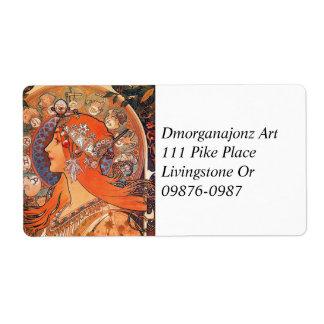 Diseño de Le Plume Art Nouveau Etiquetas De Envío