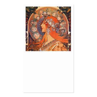 Diseño de Le Plume Art Nouveau Tarjetas De Visita
