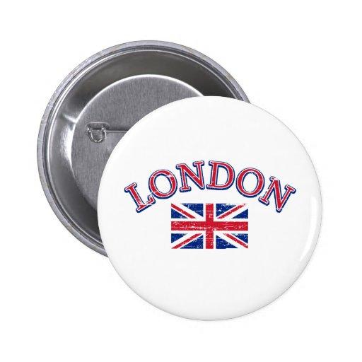Diseño de Londres Union Jack Pins