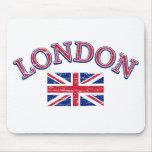 Diseño de Londres Union Jack Tapetes De Ratón
