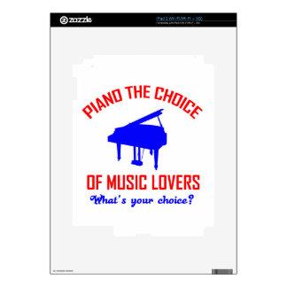 Diseño de los amantes del piano calcomanías para iPad 2