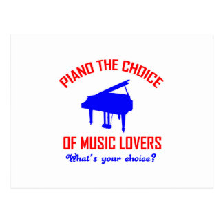 Diseño de los amantes del piano tarjeta postal