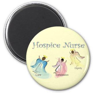 Diseño de los ángeles de la enfermera 3 del hospic imán redondo 5 cm